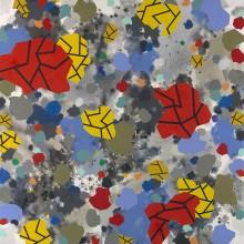 Blotches & fractures - Painting by Jennifer Morrison
