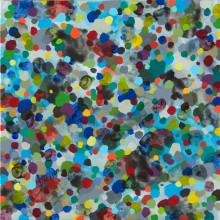 Dots 2 (blue) - Painting by Jennifer Morrison