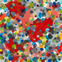 Dots 3 (red) - Painting by Jennifer Morrison