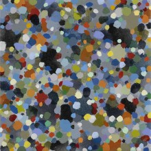 Dots (blue) - Painting by Jennifer Morrison