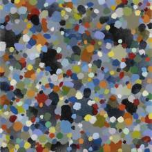 Dots (blue) - Painting by Jennifer Morrison