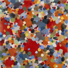 Dots (red) - Painting by Jennifer Morrison