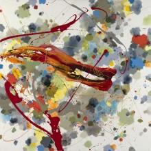Earthfire - Painting by Jennifer Morrison