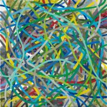 Tangle  (multicolour 3) - Painting by Jennifer Morrison