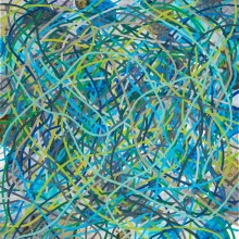 Tangle (blue) - Painting by Jennifer Morrison