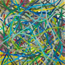 Tangle (multicolour 1) - Painting by Jennifer Morrison