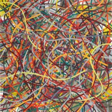 Tangle (red) - Painting by Jennifer Morrison