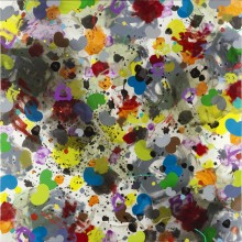 Bouncing Chaos - Painting by Jennifer Morrison