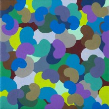 Mini-bounce 1 (purple) - Painting by Jennifer Morrison