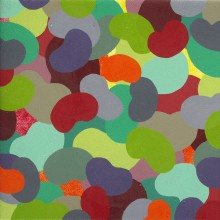 Mini-bounce 1 (red &#8211; green) - Painting by Jennifer Morrison