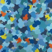 Fracture (blue) - Painting by Jennifer Morrison
