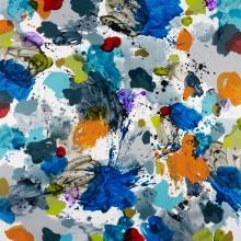 Splotch (blue) - Painting by Jennifer Morrison