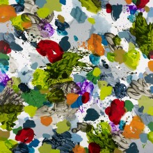 Splotch (lime) - Painting by Jennifer Morrison