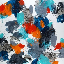 Summer (grey) - Painting by Jennifer Morrison